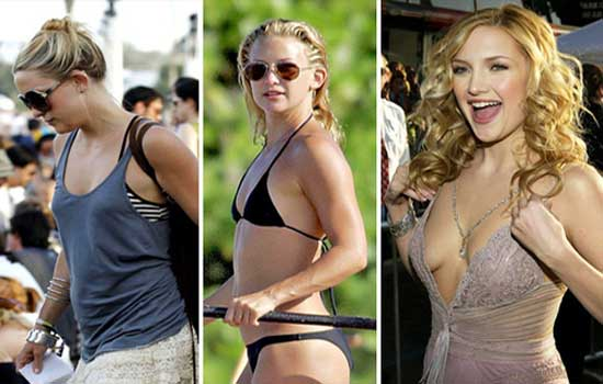 Kate Hudson Breast Implant Before and After