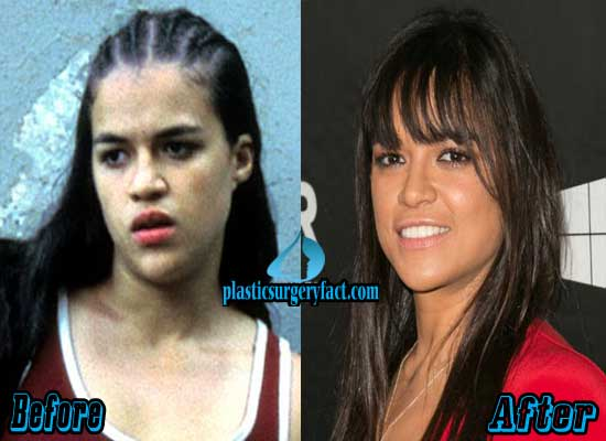 Michelle Rodriguez Nose Job Before and After