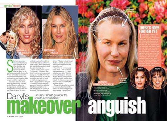 Daryl Hannah Plastic Surgery Procedures