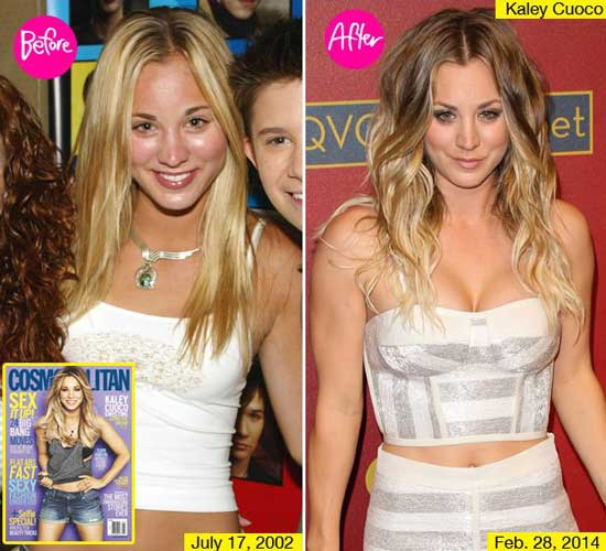 Kaley Cuoco Boob Job Before and After
