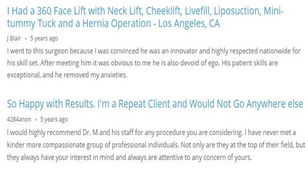 Liposcution Doctor Brent Moelleken, MD Review
