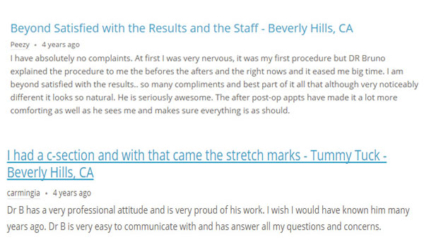 Liposuction Doctor William Bruno, MD Review