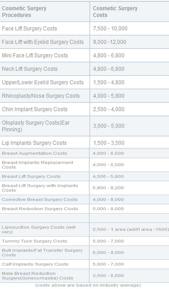Plastic Surgery Chicago Cost Review