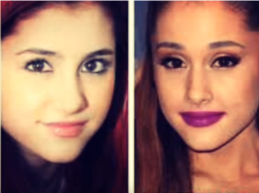 Ariana Grand Face Modifications
